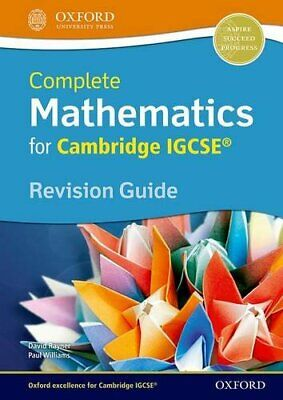 Complete Mathematics for Cambridge IGCSE� Revisio... by Williams, Paul Paperback