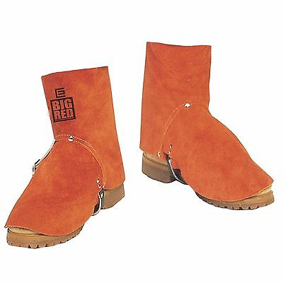 Elliotts Big Red Welding Spats for Foot and Shoe Protection [BRG7V]
