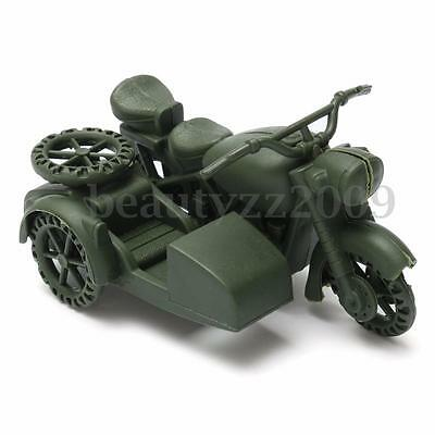 German Military Motorcycle Side Car Plastic Toy Model Soldier Army Men Accessory