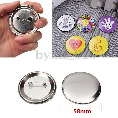 50Pcs 58mm Tinplate Pin Badge Button Parts Supplies Tools for Pro Maker Machine