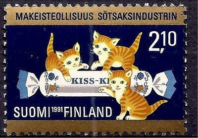 Finland 1991 Cats Sweets Confectionery Food Business Animation 1v MNH