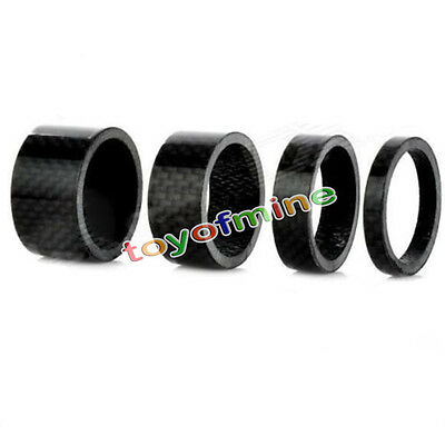 New Bicycle Bike MTB Carbon Fiber Washers Headset Spacer 5mm 10mm 15mm 20mm Kit