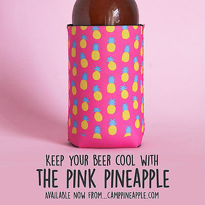 Pink Pineapple Stubby Holder/Can Koozie