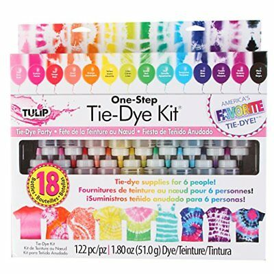 Tulip One Step 18-Color Tie-Dye Kit Craft Easy-Squeeze Bottles New
