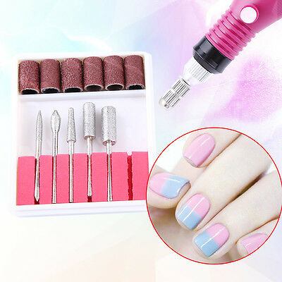 Nail File Art Electric DRILL File Acrylic Manicure Pedicure Portable Machine Kit