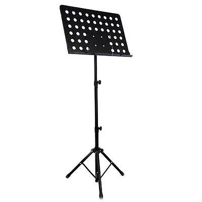 New Professional Adjustable Heavy Duty Stage Music Sheet Stand Large Black