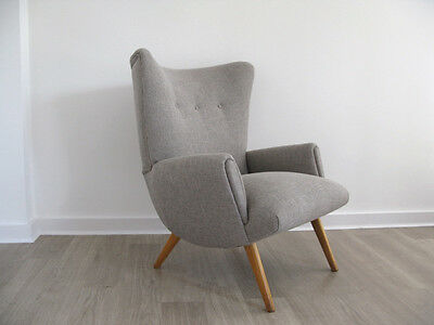 1950s DANISH ARMCHAIR LOUNGE CHAIR retro heals vintage 1960s FULLY REUPHOLSTERED