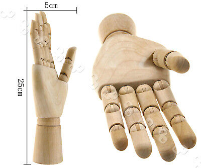 10'' Wooden Hand Body Artists Model Jointed Articulated Wood Artwork Sculpture