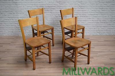 Vintage School Chapel Kitchen Dining Cafe Bar Pub Chairs 75 AVAILABLE (inc VAT)