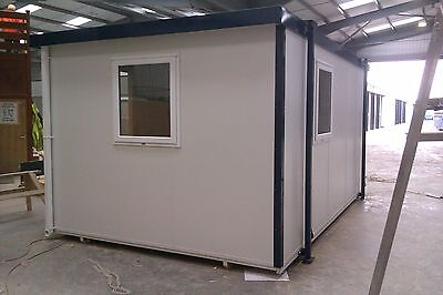 New 12ft Portable Mobile Building Site Cabin Office UPVC windows