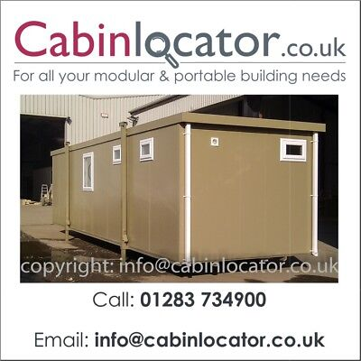 New 32ft Portable Mobile Building Site Cabin Office UPVC windows