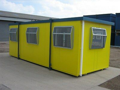 New 16ft Portable Mobile Building Site Cabin Office UPVC windows