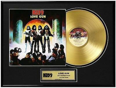 KISS Love Gun Limited Ed. Framed 18X24 24KT Gold LP Collection/2500