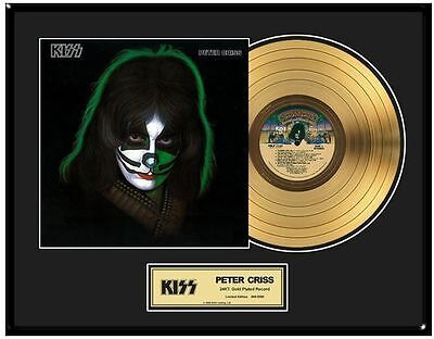 KISS Peter Criss Solo Limited Ed. Framed 18X24 24KT Gold LP Collection/2500