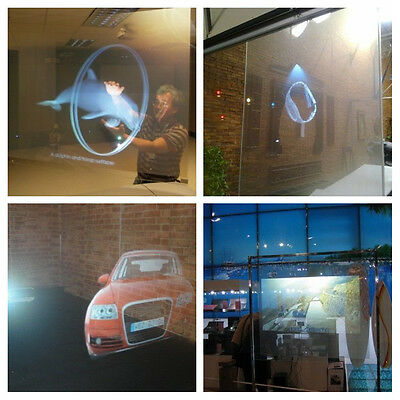 A4 Size Transparant Holographic Rear Projection Screen Self Adhesive 21*30CM