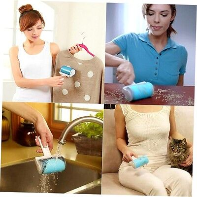 Washable Sticky Hair Removal Roller Fluff Pet Hair Dust Clothes Furniture ZX