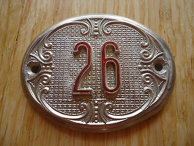 Old Vintage Door House number 26 Tin Sign Plate NOS!
