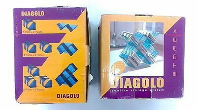 Diagolo Creative Storage System for DVD/CD Discs - CLEAR Original / Brand New