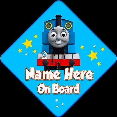 Personalised Baby On Board Car sign ~ Thomas The Tank Engine ~ New