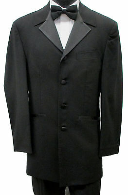42R Black Tuxedo Jacket Frock Coat Theater Costume Retro Pimp Steampunk Discount