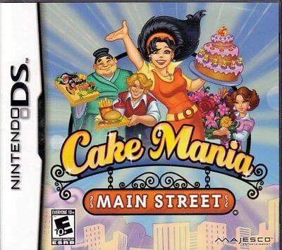 CAKE MANIA Main Street (Nintendo DS NDS Game) Free US Shipping