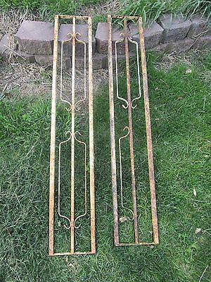 Vintage Iron Metal Fencing Hand Rail Ornate Decorative Architectural Salvage