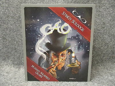 CAO Stingy Scrooge Limited Holiday Edition Wooden Wood Cigar Box Excellent Cond