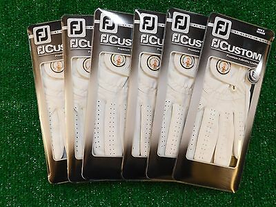 FootJoy FJ Men's Custom Pearl Golf Glove Left M Medium 6-Pack CC Logo New
