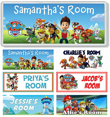 Paw Patrol Personalised Kids' Bedroom Door Plaque / Sign *ANY NAME / MESSAGE*