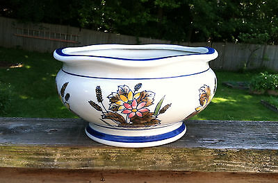 Vintage Porcelain~AAA Imports~Footed Planter~Daisy Floral Design~