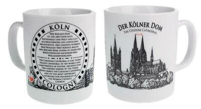 Köln Cologne Dom Cathedral Kaffeetasse Souvenir Germany,coffee mug,weiß,neu