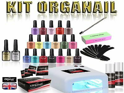 KIT Organail Vernis a ongle semi-permanent  + LAMPE UV LED 36W