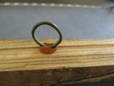 Small Ancient Celtic Bronze Ring Proto Money 600-400 Bc