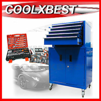 1.02M TOOL CHEST MULTI DRAWER CABINET TROLLEY with TOOLS HOME MECHANIC HANDYMAN