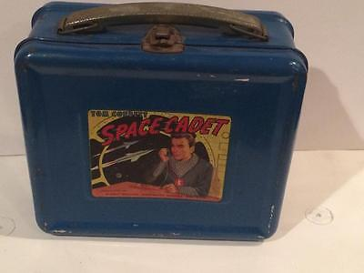 Tom Corbett Space Cadet Blue lunchbox 1950's vintage metal