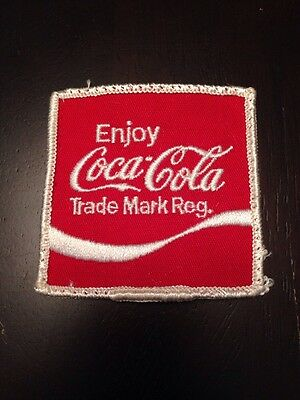 Vintage Enjoy Coca Cola Sew On Embroidered Patch Coke
