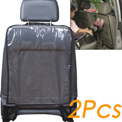 2x PVC Car Seat Back Protector Cover for Children Baby Kick Protective Mat Pad