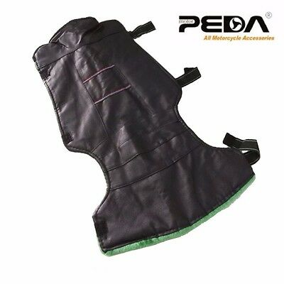 New Leather Winter Motorcycle Scooter Windproof Warmer Legs Knee Pad Protector