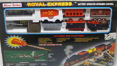 Master Railway CHRISTMAS TRAIN SET | Battery Operated Infared Control | 75 pcs