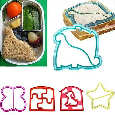 Sandwich Crust Cutter Remover Food Shape Maker Mold For Kids Toast Lunch Set