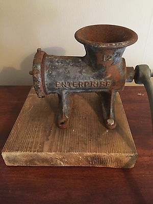 Antique Enterprise 12 Meat Grinder. Tinned. Made in America. Sausage. Cast Iron