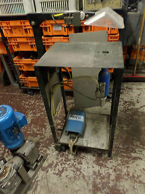 AVDEL PNEUMATIC SPEED RIVETER -- ASSEMBLY BENCH and FOOT CONTROL  - 07273