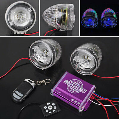 Clear Anti-theft Motorcycle Audio MP3 FM Radio Stereo Speakers Music Amplifier