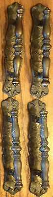Amerock Carriage House Vintage Brass Pulls For Drawer Cabinet W/back Plate Lot 4