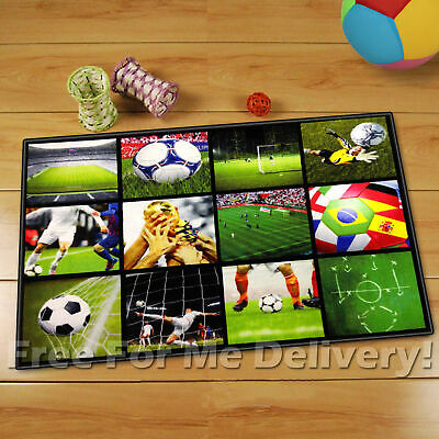 WHIZZ KID SOCCER FOOTBALL WORLD CUP FUN FLOOR RUG (XS) 80x120cm *FREE DELIVERY