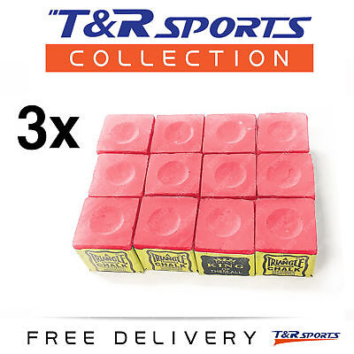 3 Boxes (36X) Green Triangle Billiard Snooker Pool Chalk Combo Free Au Delivery