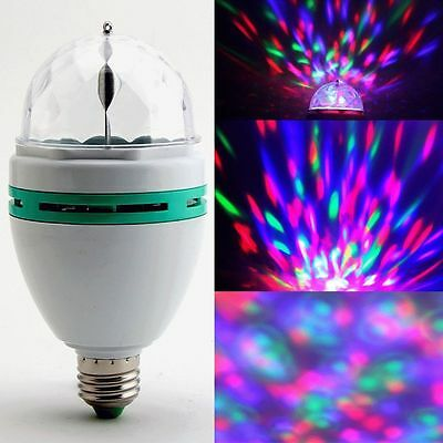 New Clearance E27 RGB SMDLED Crystal Magic Stage Rotating Party DJ Bar Bulb 110V