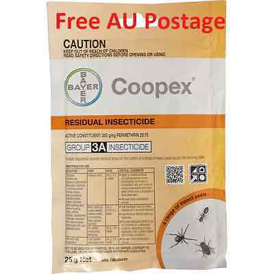 Coopex Residual Insecticide Spray 25gm - Active: Permethrin Insect Spiders AUST
