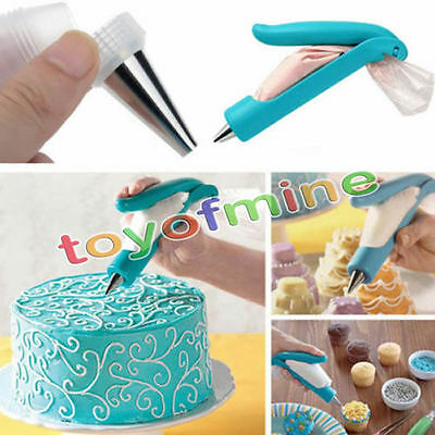 New Pastry Icing Piping Bag Nozzle Tips Fondant Cake Decorating Craft Pen Set
