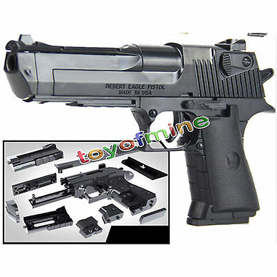 1:10 4D Assembling Desert Eagle Pistol Gun Weapon Model Toy For Action Figure